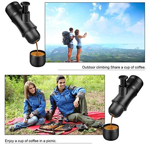 Portable Travel Coffee Maker,CENDA Mini Manual Espresso Machine Compact Manual Pressure Hand Operated Coffee Maker Quick Cold Brew(No Battery,No Electronic Power Required) by CENDA (Image #3)