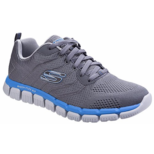 Skechers Herren Skech-Flex Milwee Relaxed Fit Trainers (41 EU) (Graphit/Blau)