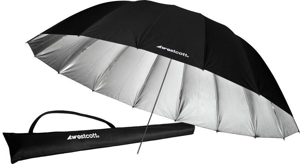 Westcott 4633 7-Feet Silver with Black Cover Parabolic Umbrella