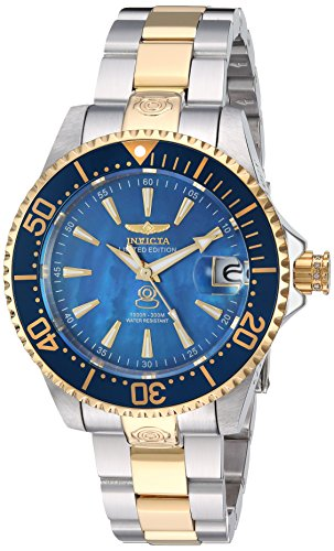 Silicone Two Tone - Invicta Women's 'Pro Diver' Automatic Stainless Steel and Silicone Casual Watch, Color:Two Tone (Model: 23309)