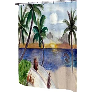 515tXwg9umL._SS300_ 200+ Beach Shower Curtains and Nautical Shower Curtains