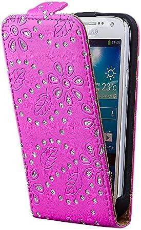 iCues |Samsung Galaxy S4 Mini - i9190 i9195 Funda Brillo Tapa Case | Fucsia | Carcasa Bolsa Cover Bumper: Amazon.es: Electrónica