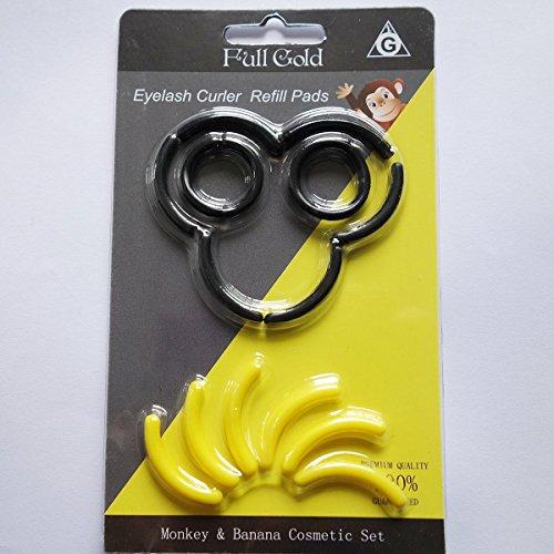 ash Curler Refill Pads Eyelash Curler Replacement Eyelash Curler Pad for Professional Make-up artist and Beauty Salon 14pack (Monkey Love Banana) (Curl Eyelash Curler Replacement Pads)