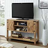 Walker Edison W52BD4CBW 52'' Barn Door Buffet Table Console TV Stand -