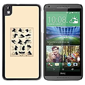 """Pulsar Snap-on Series Teléfono Carcasa Funda Case Caso para HTC DESIRE 816 , Los signos de Títeres de sombra minimalista"""""""