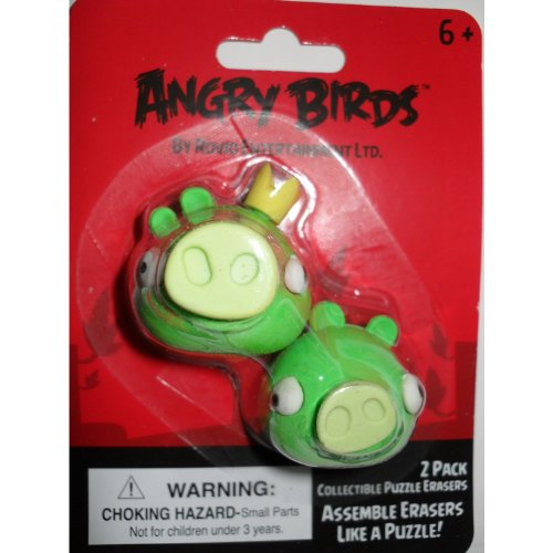 Angry Birds Green Pig Puzzle Erasers