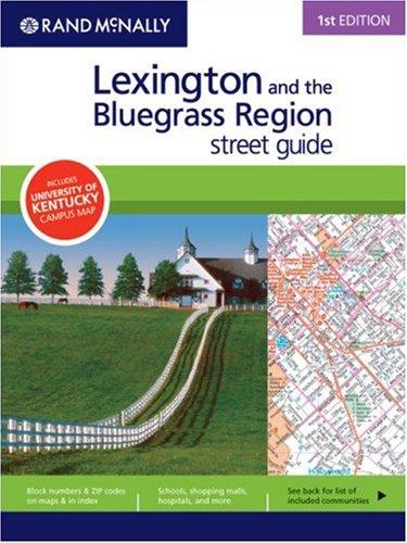 Rand McNally 1st Edition Lexington and the Bluegrass Region street (Lexington Street)