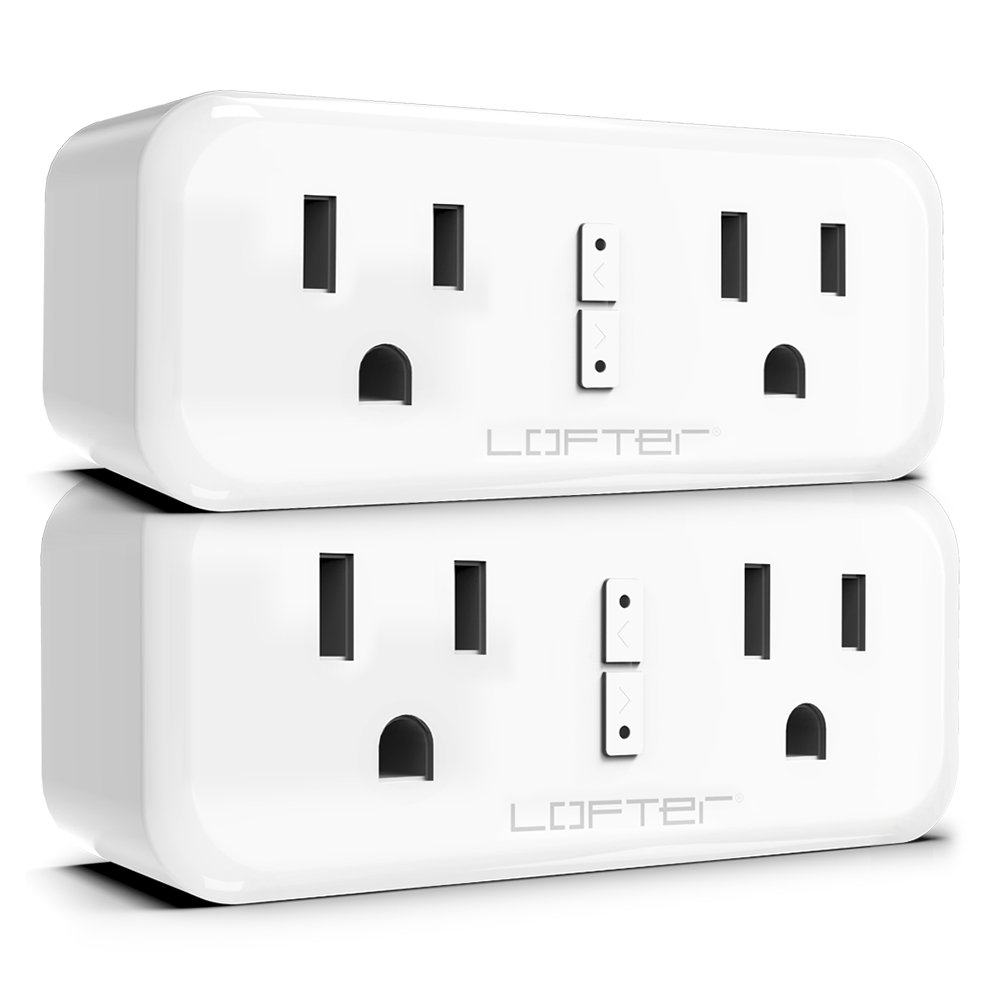 Plug Smart Mini Outlet - Wi-Fi Remote Control Plug Wireless Smart Dual Outlet Compatible with Alexa Echo Google Home IFTTT, Smart Socket No Hub Required (2 Pack)