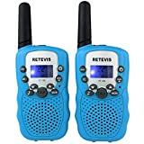 Retevis RT-388 Kids Walkie Talkies UHF 462.5625-467.7250MHz VOX 22CH Portable FRS/GMRS Two Way Radio with Flashlight (Blue, 2 Pack)