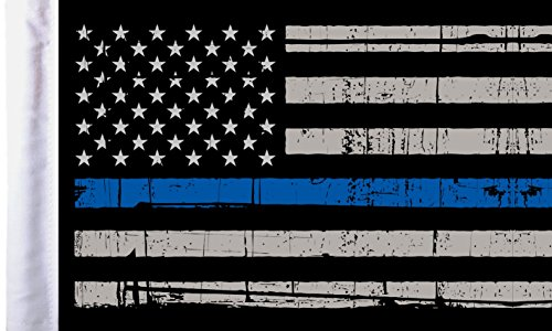 Pro Pad FLG-PTBL-US Sleeved 6 by 9-inch Grunge USA Thin Blue Line Motorcycle Flag