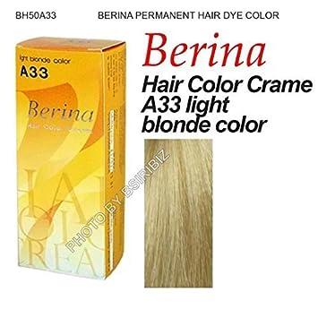 Amazon Berina Permanent Hair Dye Color Cream A33 Light