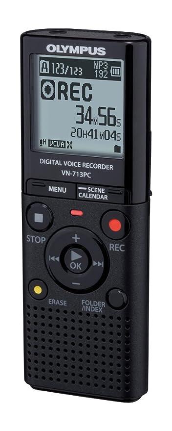 Olympus VN-713PC - Grabador de sonido digital portátil color negro