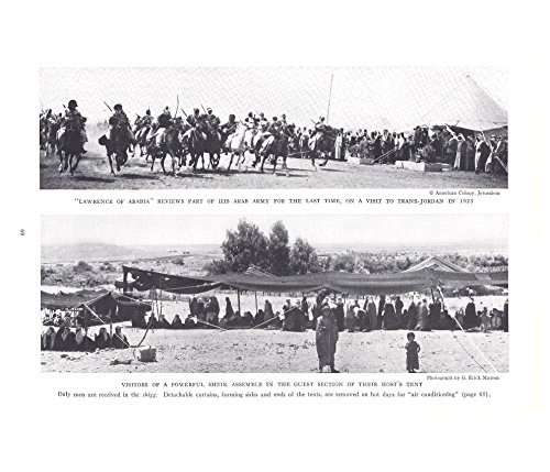 American Colony Jerusalem, G. Erick Matson Print Ad 1937 Lawrence of Arabia, Visitors of a Powerful Sheik ()