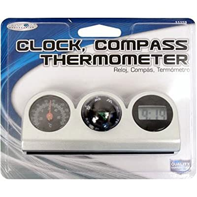 Custom Accessories 11159 Compass, Clock and Thermometer Combo: Automotive
