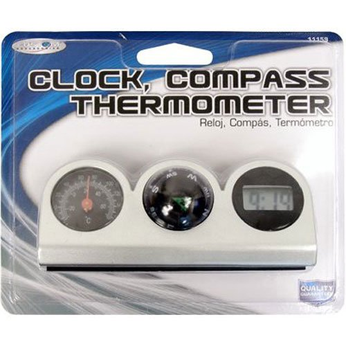 Custom Accessories 11159 Compass Thermometer