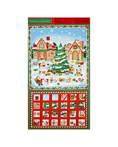 Christmas Village Advent Calendar 24 In. Panel - Christmas Advent Calendar Panels