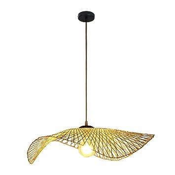 La nueva lámpara de techo de celosía de bambú creativa de ...