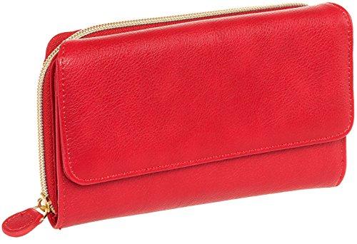 Mundi Womens My Big Fat Safe Keeper RFID Clutch Wallet w/Calculator (Red)