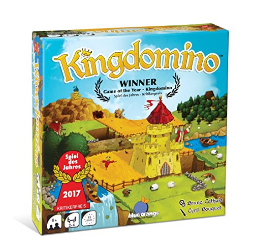 Blue Orange Games Kingdomino Award Winning Family Strategy Board - Castle Carcassonne