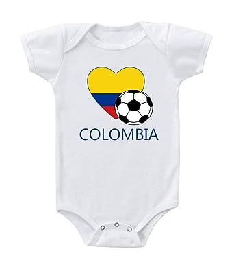 Amazon.com: Colombia Soccer Colombia de fútbol body de una ...