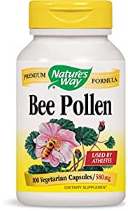 Amazon.com: Nature's Way Bee Pollen, 580 mg, 100 Capsules