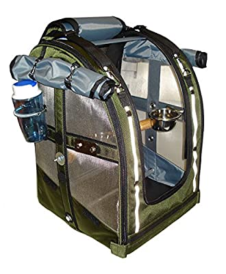 Celltei Pak-o-Bird - Olive color with Stainless Steel mesh - Medium Size from Celltei