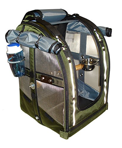 Celltei Pak-o-Bird - Olive color with Stainless Steel mesh - Medium (Pak O-bird Carrier)