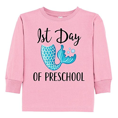 inktastic - 1st Day of Preschool Toddler Long Sleeve T-Shirt 4T Pink 31718 ()
