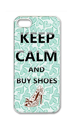 BlackKey keep calm and buy shoes Snap-on Hard Back Case Cover Shell for iPhone 5 5G 5s -443