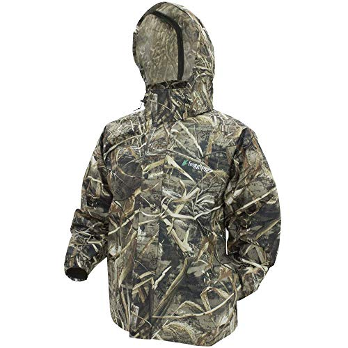 Rain Camo Jacket - Frogg Toggs Unisex-Adult Pro ActionCamo Jacket, Realtree Max5, Size X-Large