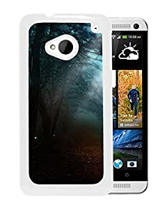 Unique DIY Designed Cover Case For HTC ONE M7 With Foggy Night Nature Mobile Wallpaper (2) Phone Case