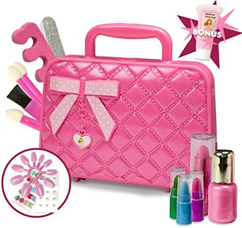 Toysical Kids Makeup Kit for Girl with Make Up Remover - 30Pc Real Washable, Non Toxic Play Princess Cosmetic Set - Ideal Birthday and Christmas Gift for Little Girls Ages 3, 4, 5, 6 Year Old Children