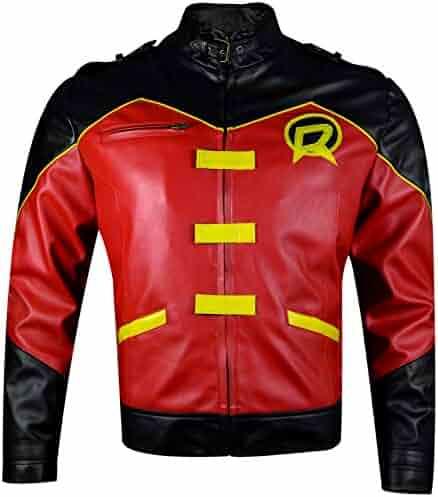 Marche Sydney Mens Fight Club Tyler Durden Brad Pitt Black Leather Jacket 2XS to 3XL
