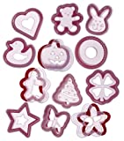 Progressive International 24 Piece Cookie Cutter and Stencil Set