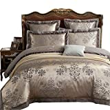 European King Mattress Measurements MKXI Duvet Cover Set Floral Embroidery Sateen Cotton Vintage King Size Bedding Set