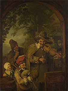 The high quality polyster Canvas of oil painting 'Christian Wilhelm Ernst Dietrich The Wandering Musicians ' ,size: 20 x 27 inch / 51 x 67 cm ,this Imitations Art DecorativePrints on Canvas is fit for Bathroom decor and Home decoration and Gifts