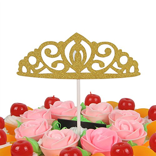 YotaWish OH BABY Gold Cake Topper Baby Shower Happy Birthday Party Decoration
