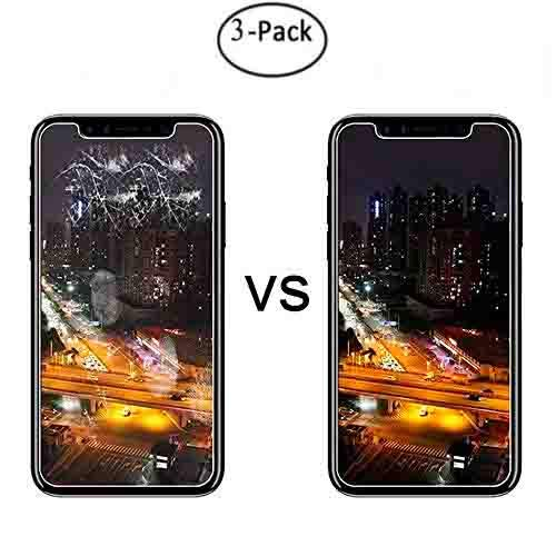 [3-Pack] [ 5.8 inch ] iPhone X Screen Protector Tempered Glass for iPhone X,3D Touch Compatible,0.3mm Ultra Thin 9H Hardness 2.5D Round Edge,Anti-Scratches,Anti-Fingerprint (iphonex/xs-3pack)