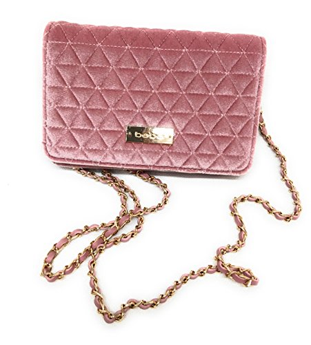 Bebe Clutch (bebe Margeaux Crossbody Bag in Blush Quilted Velvet, Handbag, Purse, Clutch)