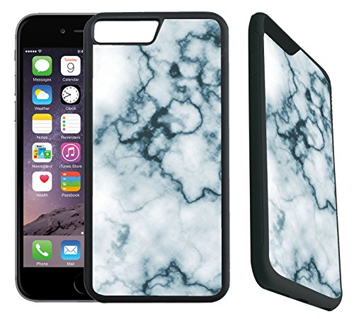 [TeleSkins] - iPhone 7 Plus / iPhone 8 Plus Rubber Designer Case - Marble / Mosaic Pattern - Ultra Durable Slim Fit, Protective Plastic with Soft RUBBER TPU Snap On Back Case / Cover. Fits (5.5 inch only) (Breast Cancer Mosaic)