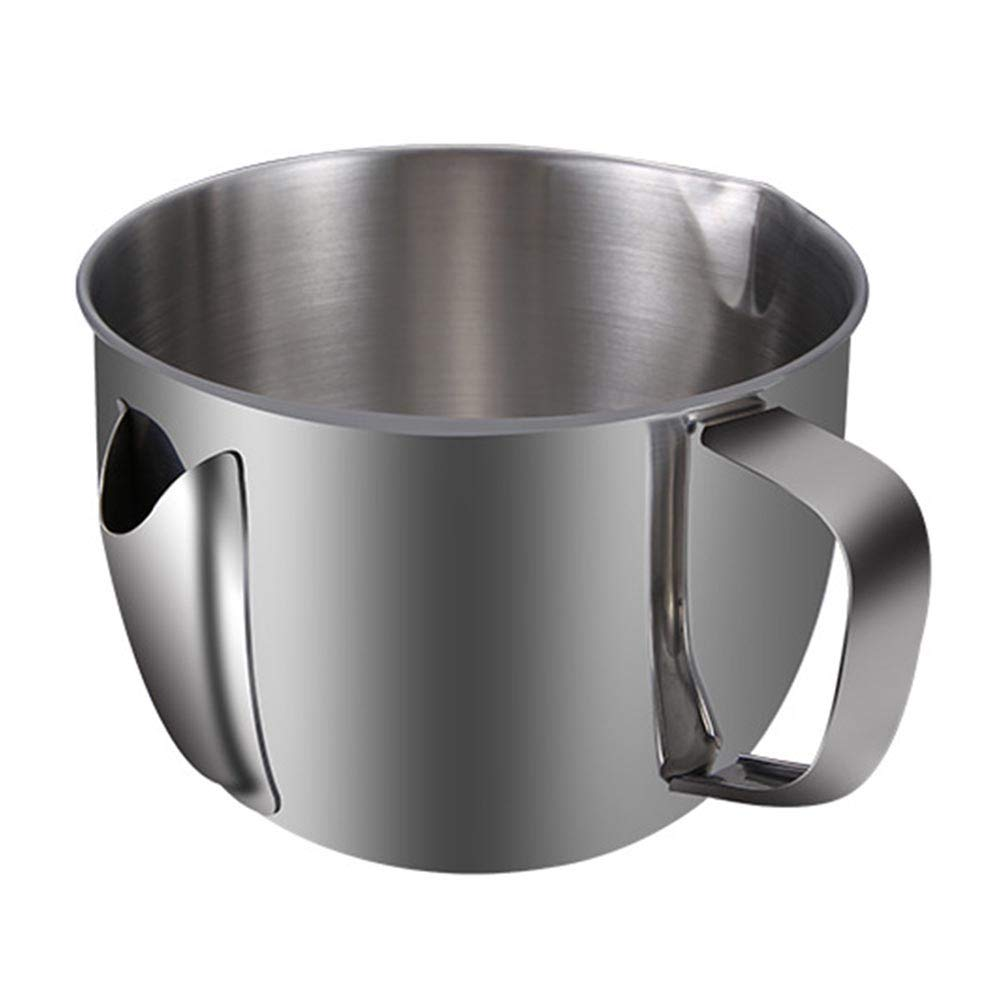 Matedepreso Oil Filter Soup Bowl Fat Separator Oil Fat Separator Bowl Stainless Steel Oil Soup Strainer Cup Gravy Fat Pot Kitchen Accessories with Handle