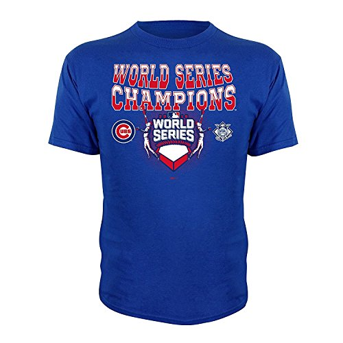 - Chicago Cubs Youth 2016 World Series Champions Sky High T-Shirt Small 8