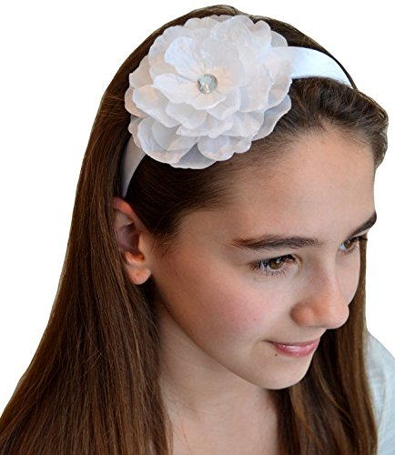 Sydney Girls Silk Flower Headband (White)