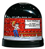 Personalized Friendly Folks Cartoon Caricature Snow Globe Gift: Coach - Female Great for school, professional sports league, weekend coach
