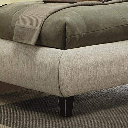 Phoenix King Upholstered Bed Beige and Cappuccino