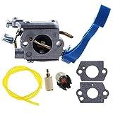 HIPA C1Q-W37 Carburetor with Fuel Line Hose Filter for Husqvarna 125B 125BX 125BVX Leaf Blower