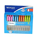 2 X Westcott Soft Handle Kids Scissors with Anti-microbial Protection, Assorted Colors, 5-Inch Blunt, 12 Pack (14873)