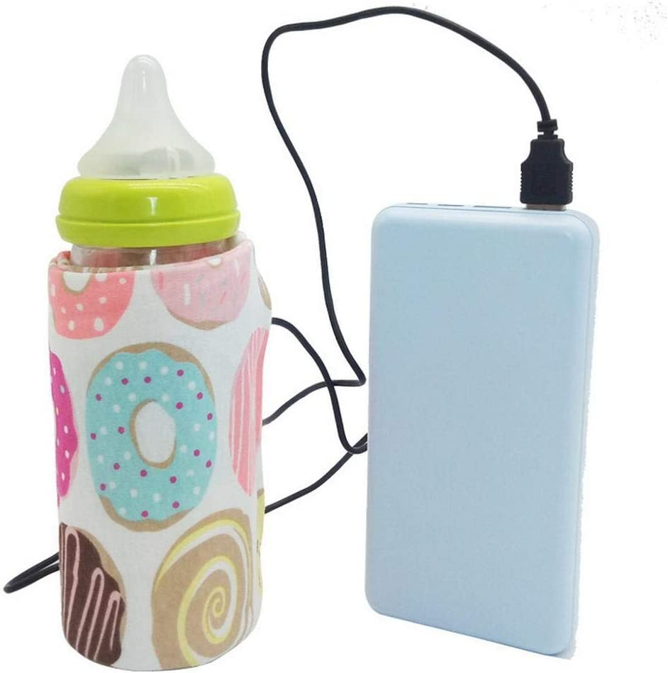 Chiak Portable Outdoor Thermostatic USB Bottle Insulated Sleeve Bottle Cover Warmers Color Randomly