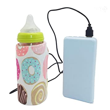 Portable Bottle Warmer Heater Travel Baby Kids Milk Water USB Cover Pouch Soft