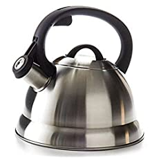 Maxware Stovetop Stainless Steel Whistling Tea Kettle, 3-Liter (3.2 Quart)